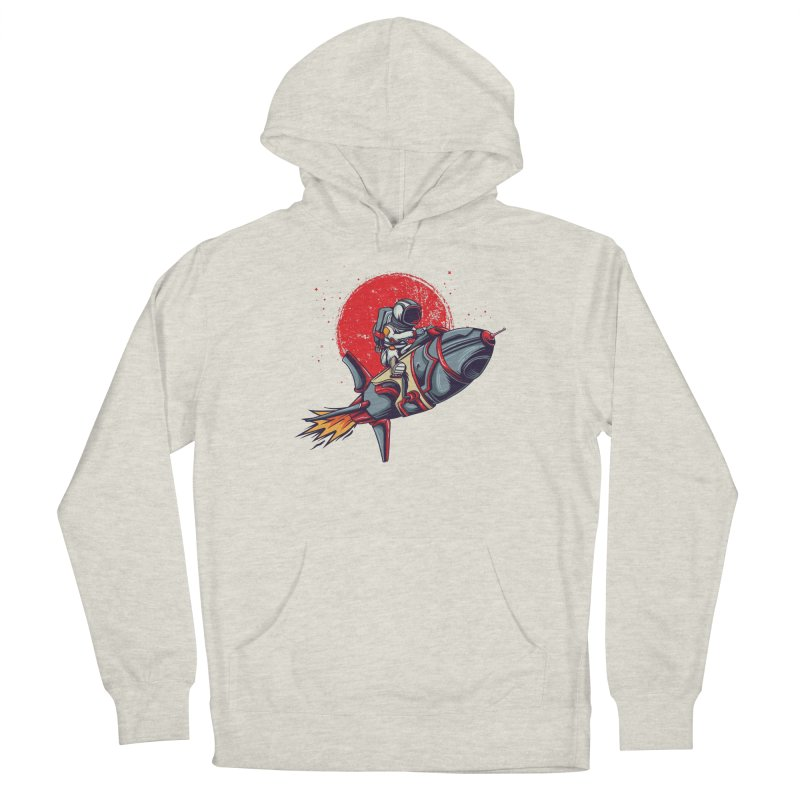 Rocket Riding Astronaut Women's Pullover Hoody by Saucy Robot