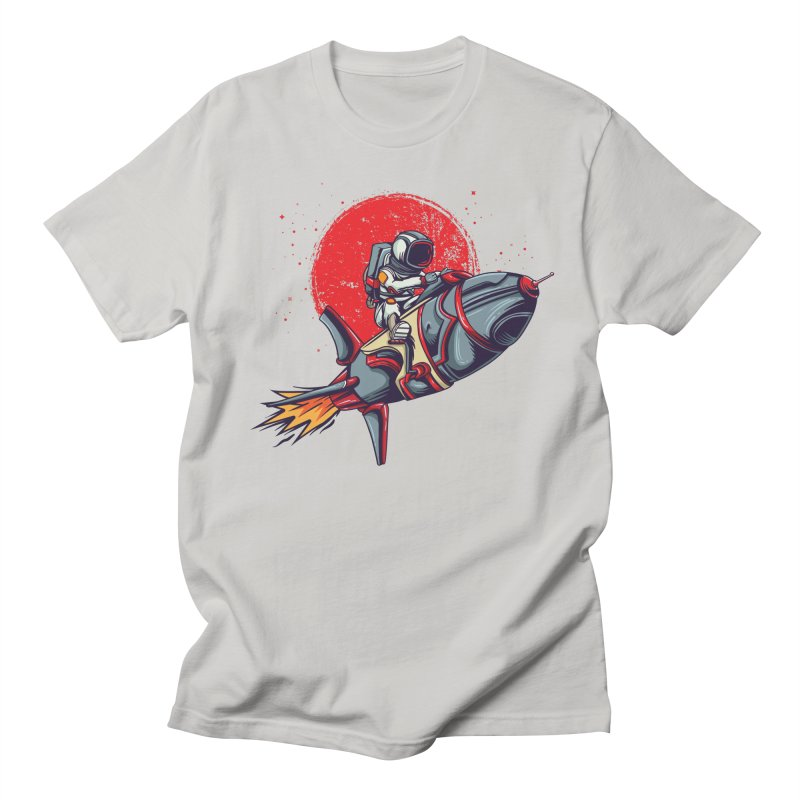 Rocket Riding Astronaut Men's T-Shirt by Saucy Robot