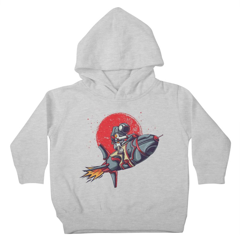 Rocket Riding Astronaut Kids Toddler Pullover Hoody by Saucy Robot