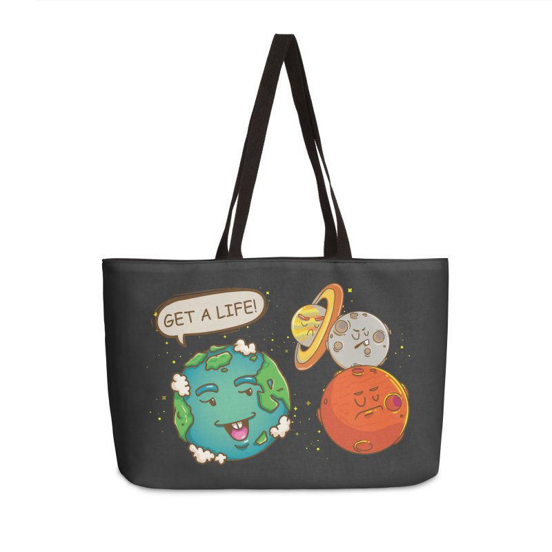 Get A Life Accessories Bag by Saucy Robot