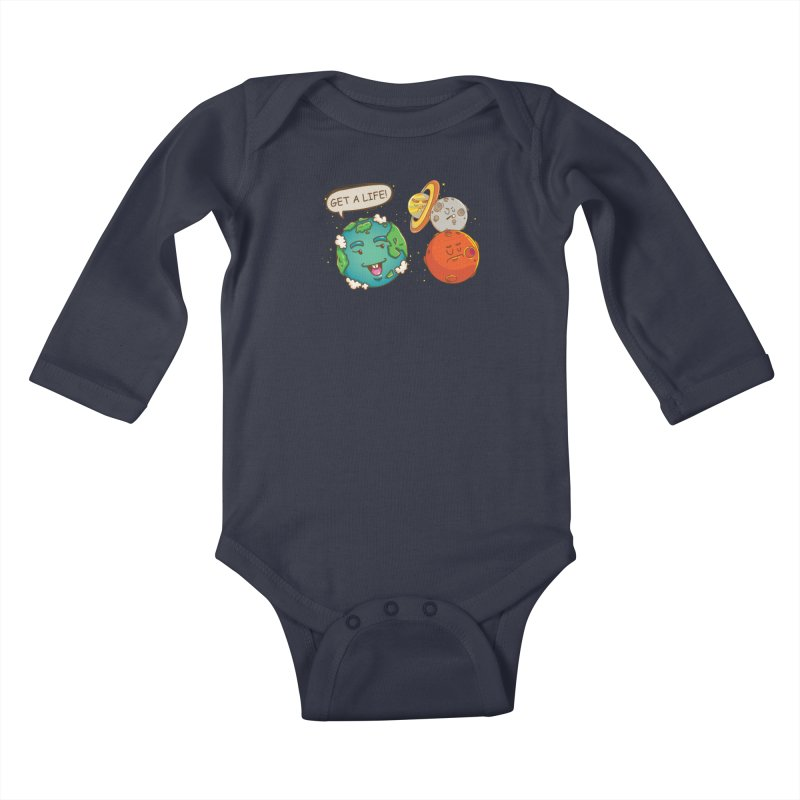 Get A Life Kids Baby Longsleeve Bodysuit by Saucy Robot