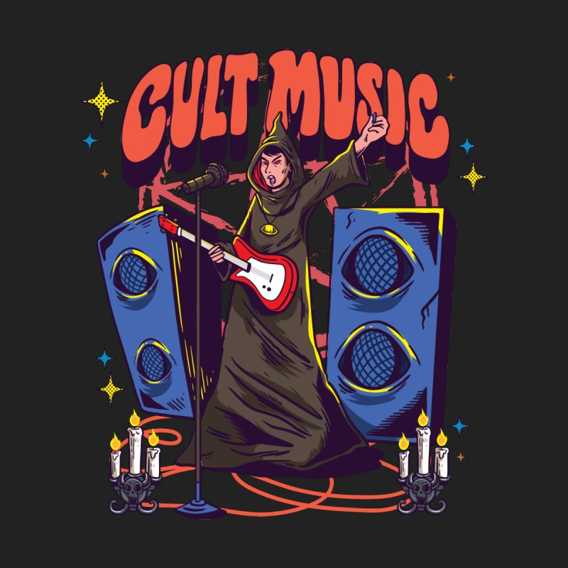 Cult Music Men's T-Shirt by Saucy Robot