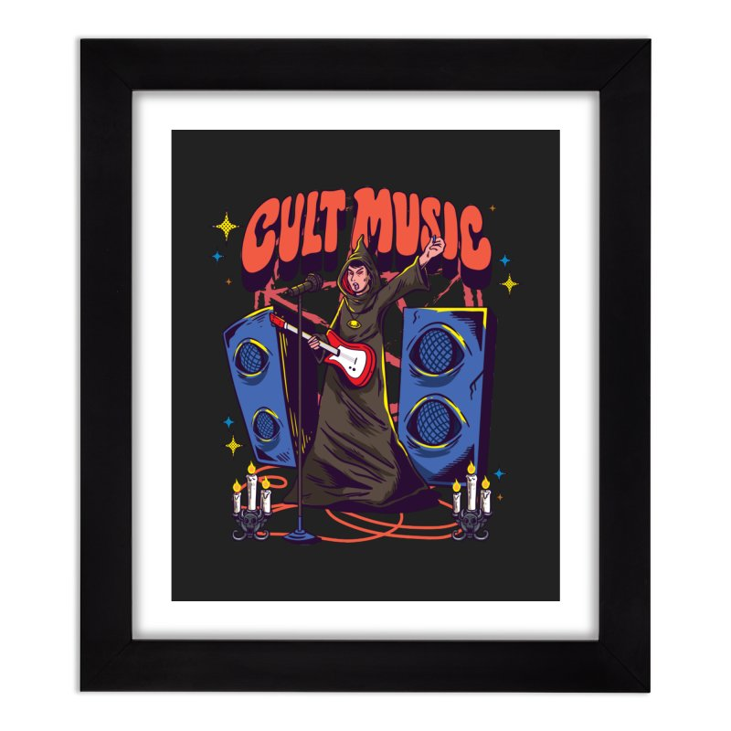 Cult Music Home Decor Framed Fine Art Print by Saucy Robot
