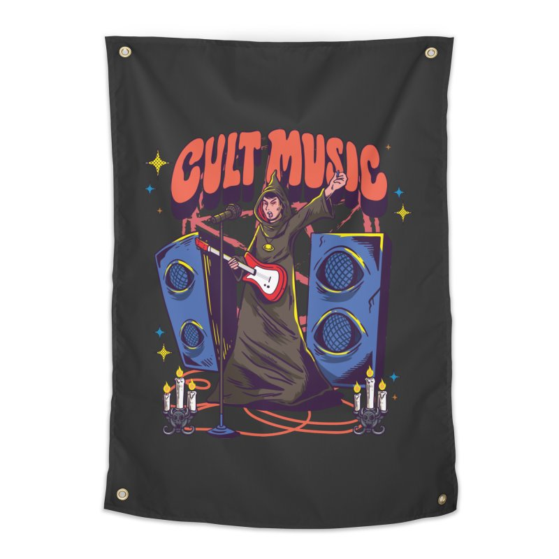 Cult Music Home Decor Tapestry by Saucy Robot