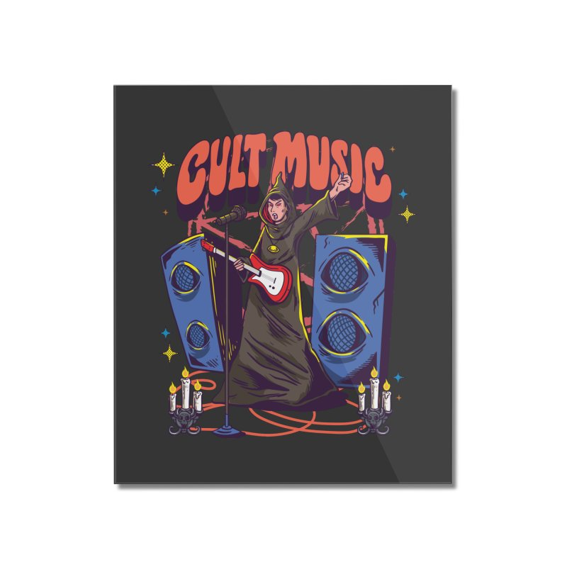 Cult Music Home Decor Mounted Acrylic Print by Saucy Robot