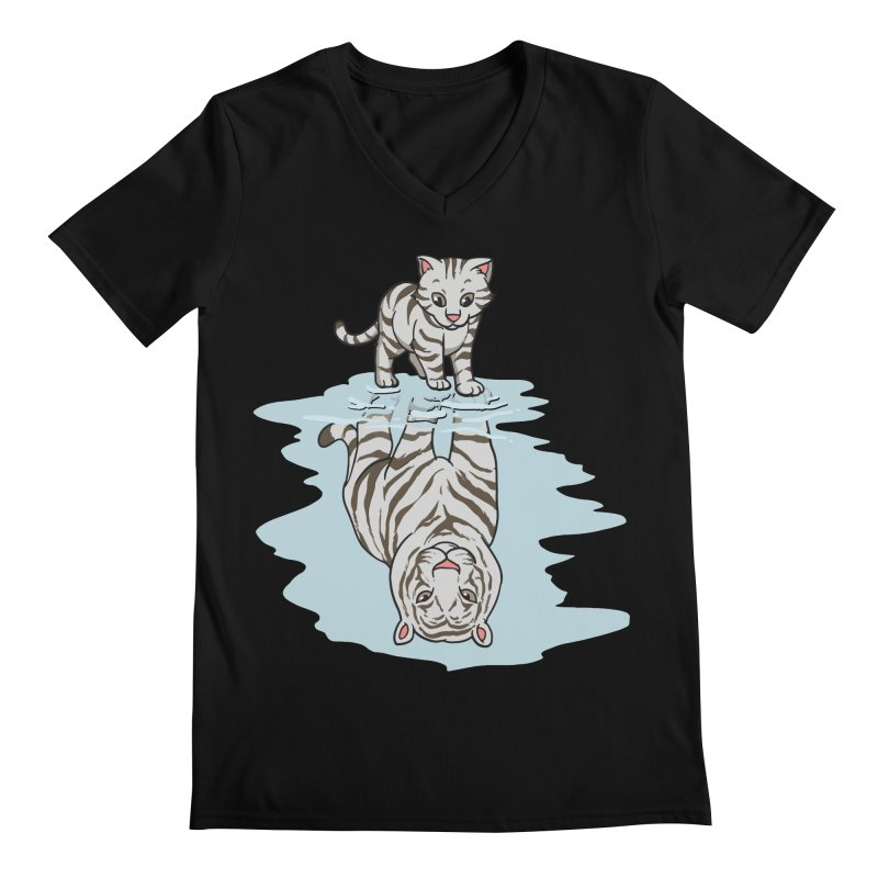 Wild Life Men's V-Neck by Saucy Robot