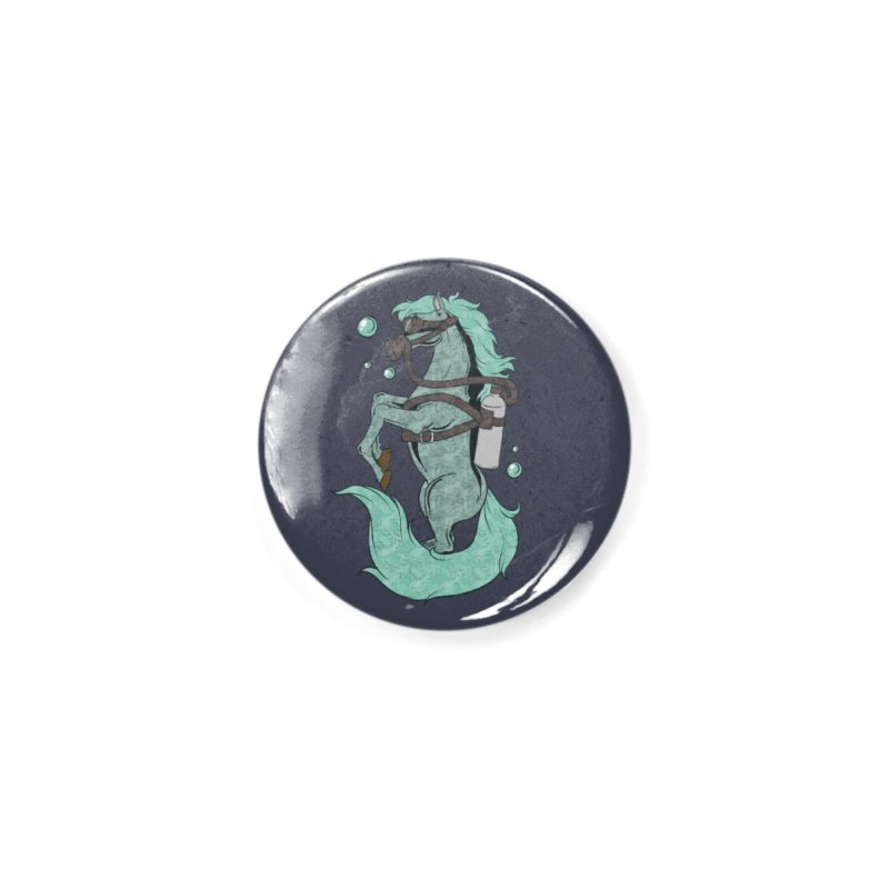 Sea Horse Accessories Button by Saucy Robot