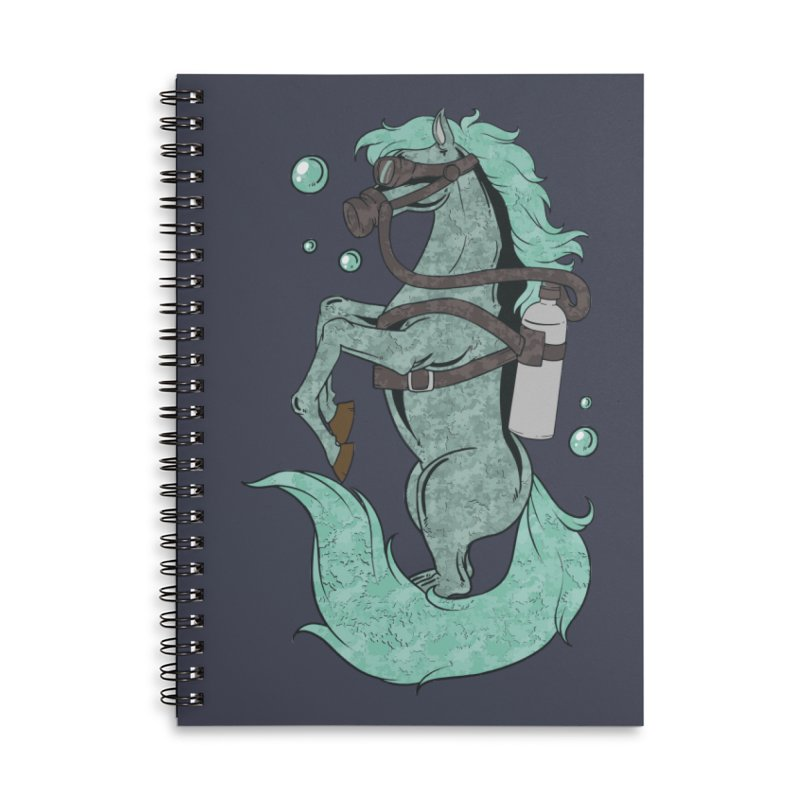 Sea Horse Accessories Notebook by Saucy Robot