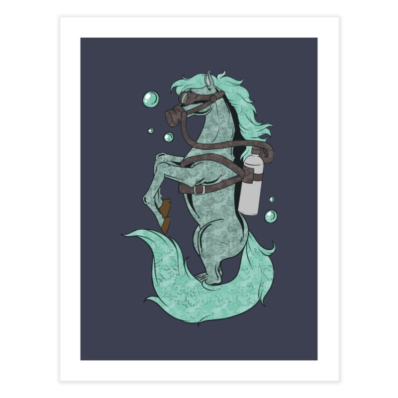 Sea Horse Home Fine Art Print by Saucy Robot