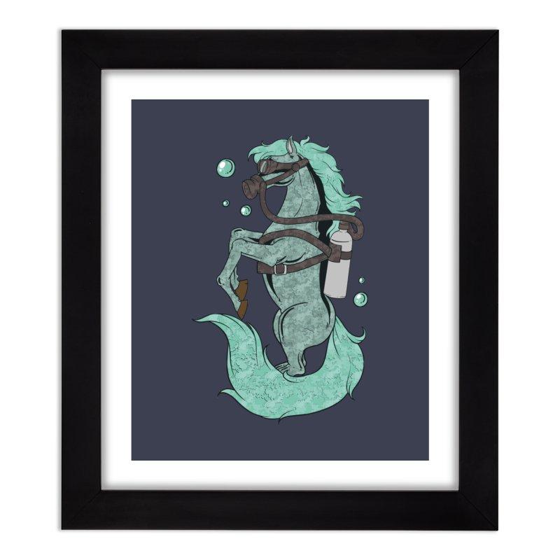 Sea Horse Home Decor Framed Fine Art Print by Saucy Robot