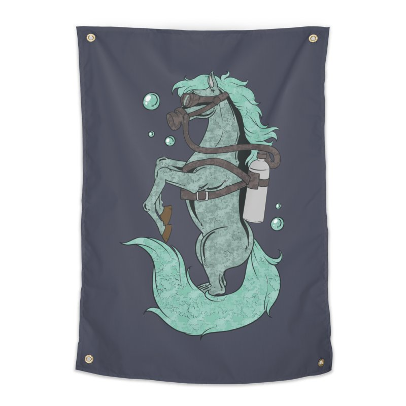 Sea Horse Home Decor Tapestry by Saucy Robot