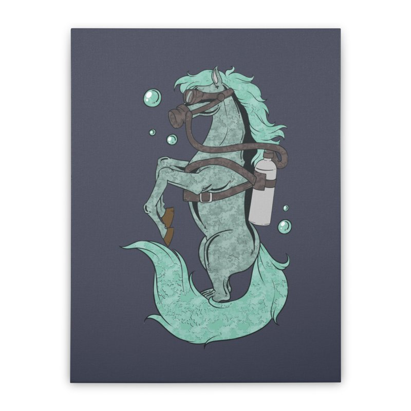Sea Horse Home Decor Stretched Canvas by Saucy Robot