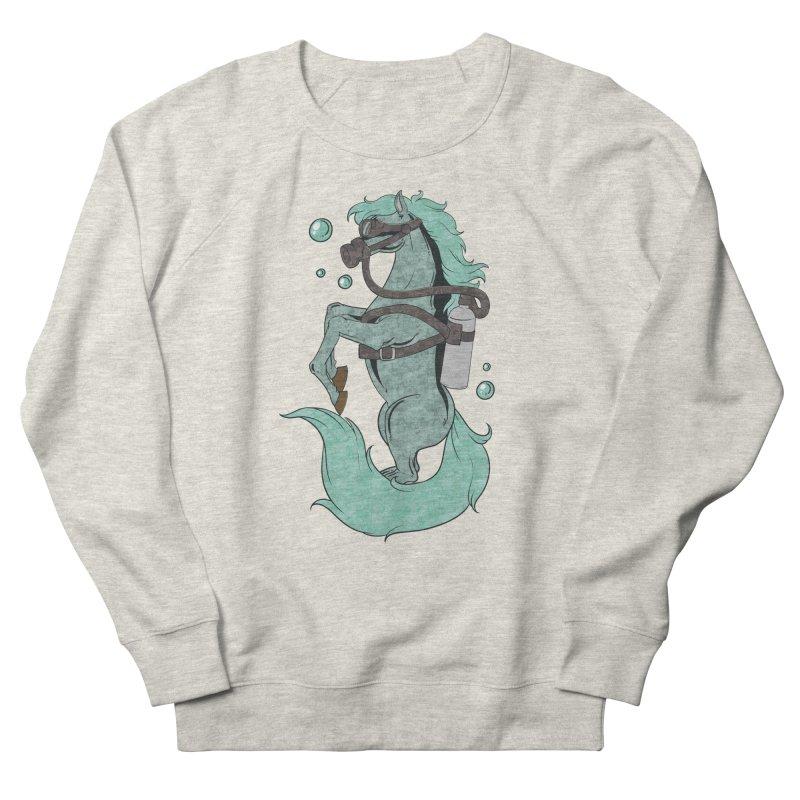 Sea Horse Men's Sweatshirt by Saucy Robot