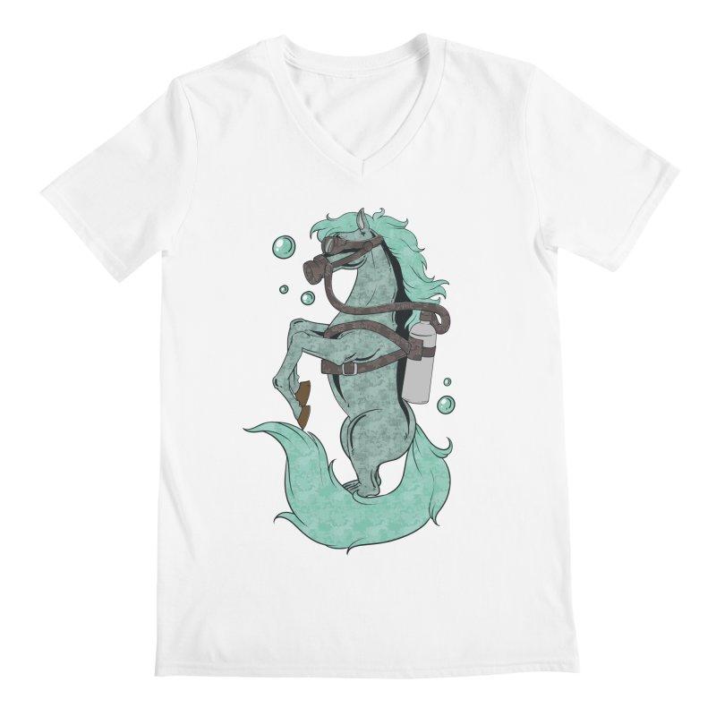 Sea Horse Men's V-Neck by Saucy Robot