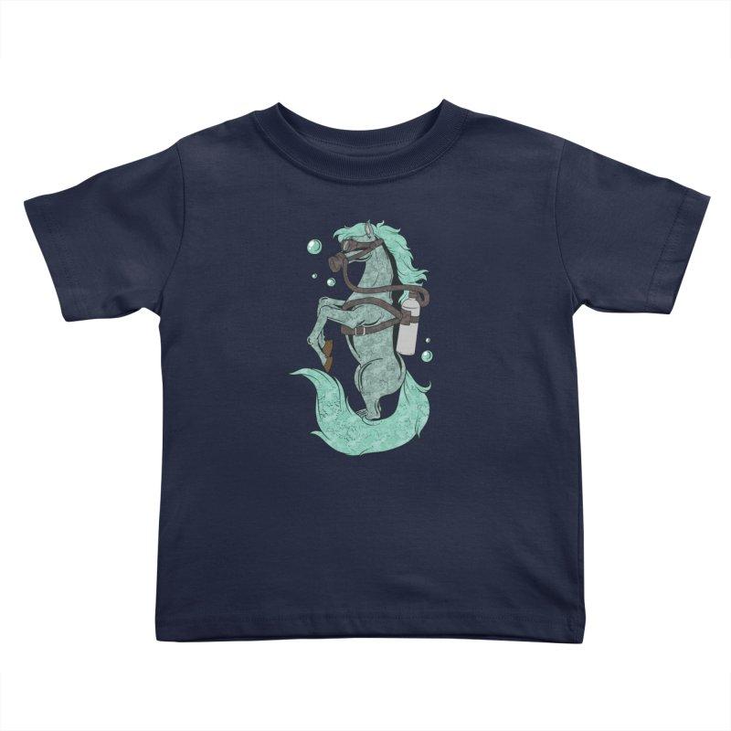Sea Horse Kids Toddler T-Shirt by Saucy Robot