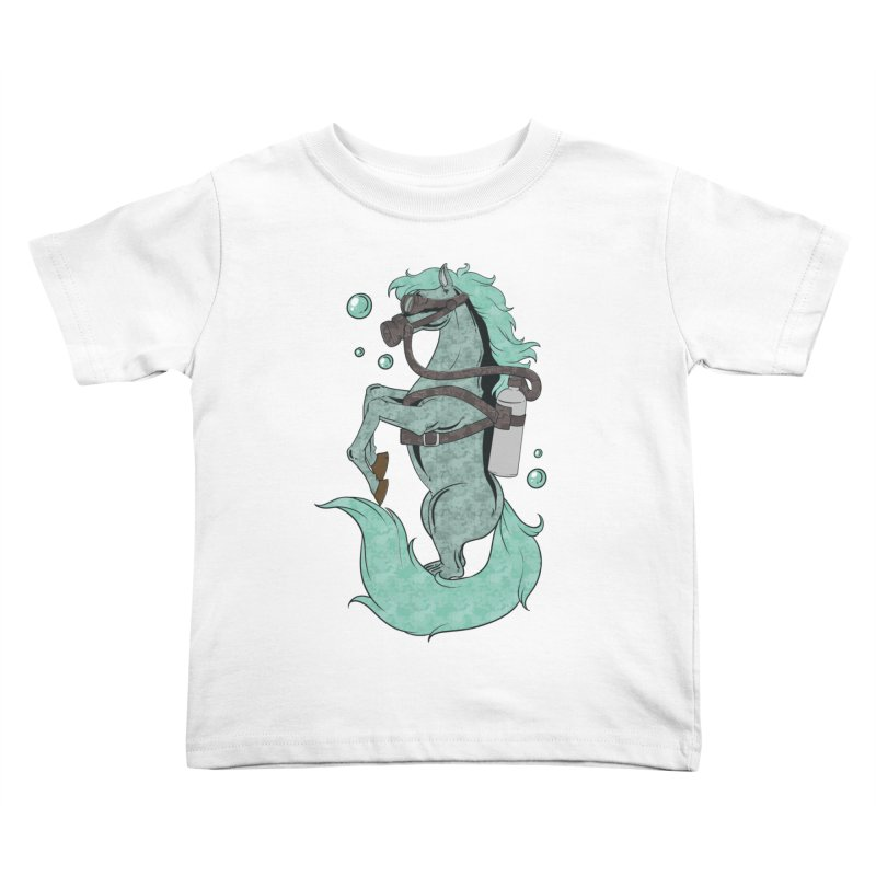 Sea Horse Kids Toddler T-Shirt by Saucy Robot