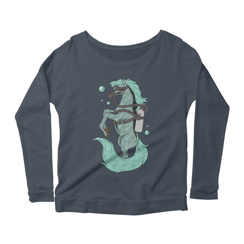 Sea Horse Women's Longsleeve T-Shirt by Saucy Robot
