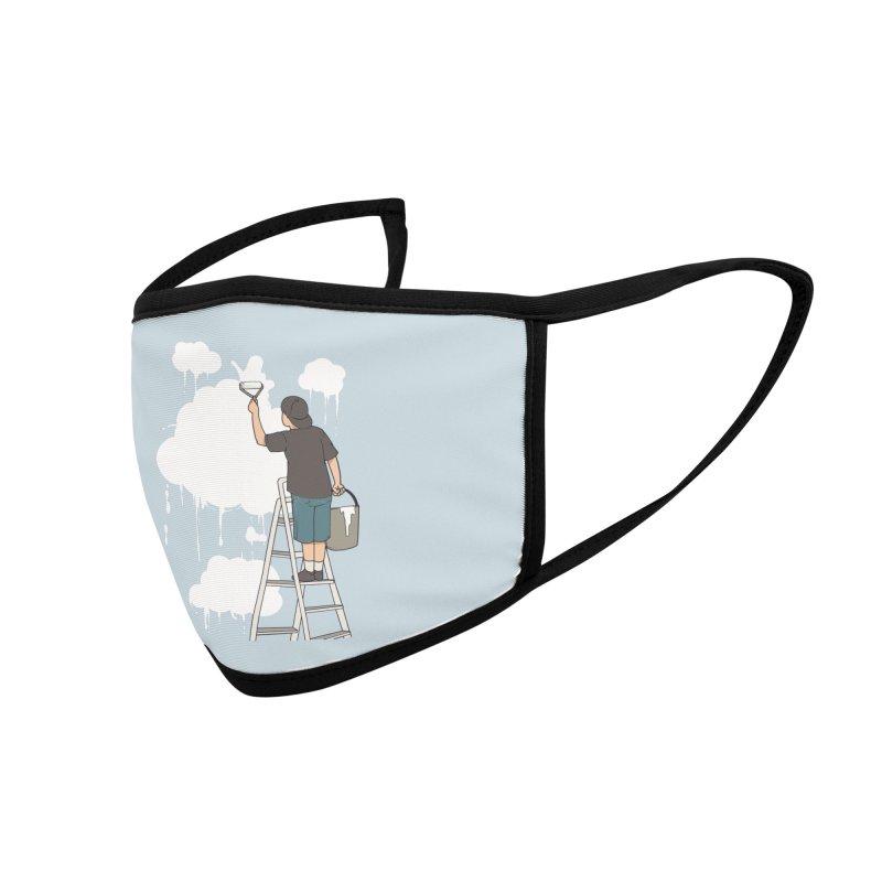 Cloud Painter Accessories Face Mask by Saucy Robot