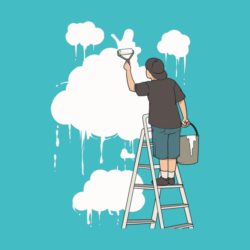 Cloud Painter Men's T-Shirt by Saucy Robot