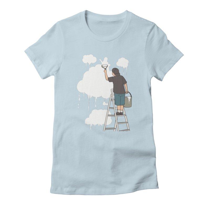 Cloud Painter Women's T-Shirt by Saucy Robot