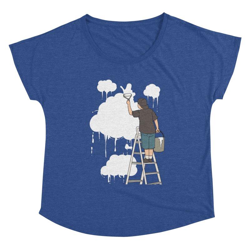 Cloud Painter Women's Scoop Neck by Saucy Robot