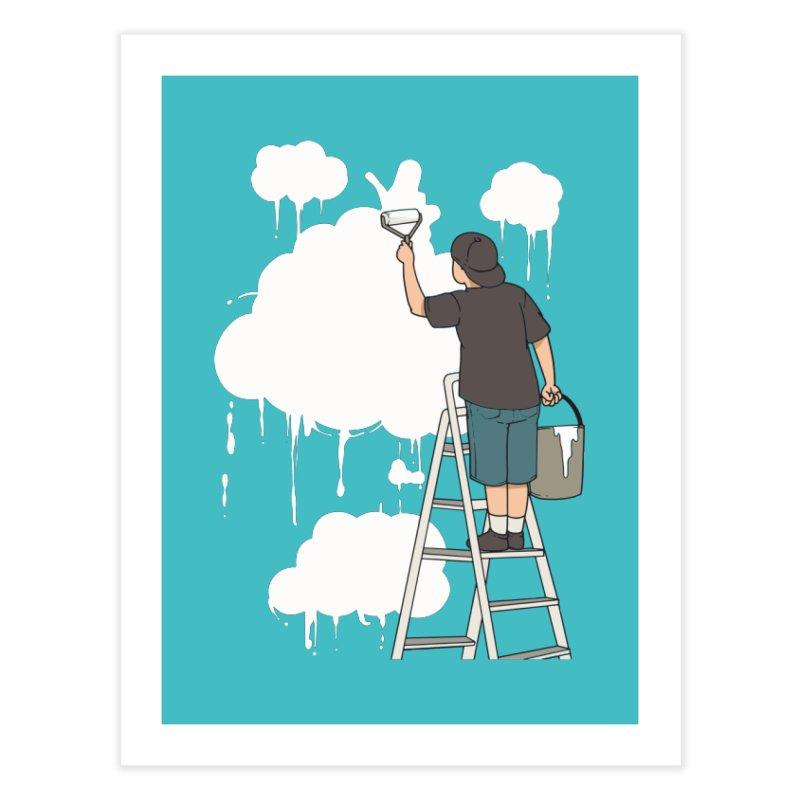 Cloud Painter Home Fine Art Print by Saucy Robot