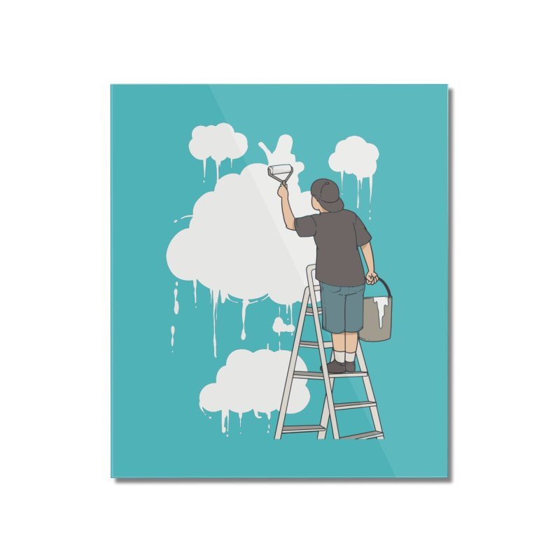 Cloud Painter Home Decor Mounted Acrylic Print by Saucy Robot
