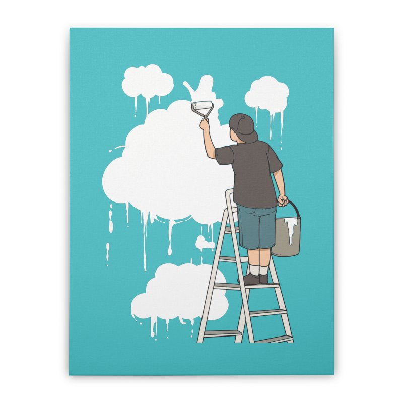 Cloud Painter Home Decor Stretched Canvas by Saucy Robot