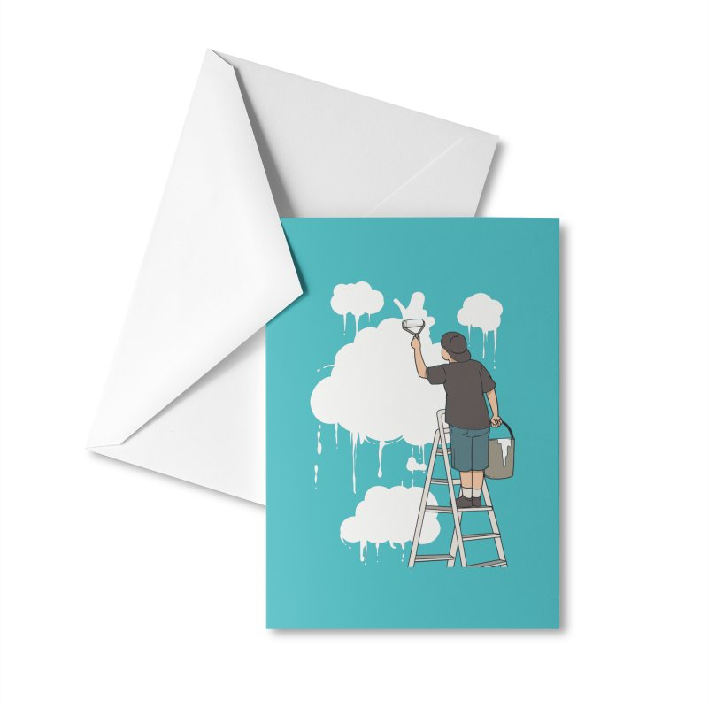 Cloud Painter Accessories Greeting Card by Saucy Robot