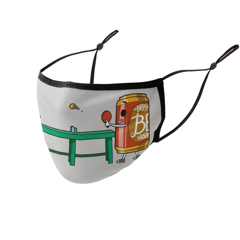 Beer Pong Accessories Face Mask by Saucy Robot