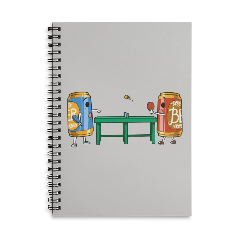 Beer Pong Accessories Notebook by Saucy Robot