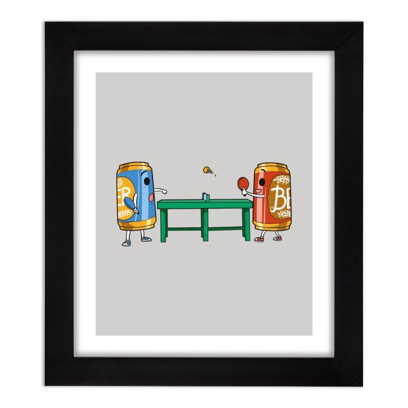 Beer Pong Home Decor Framed Fine Art Print by Saucy Robot