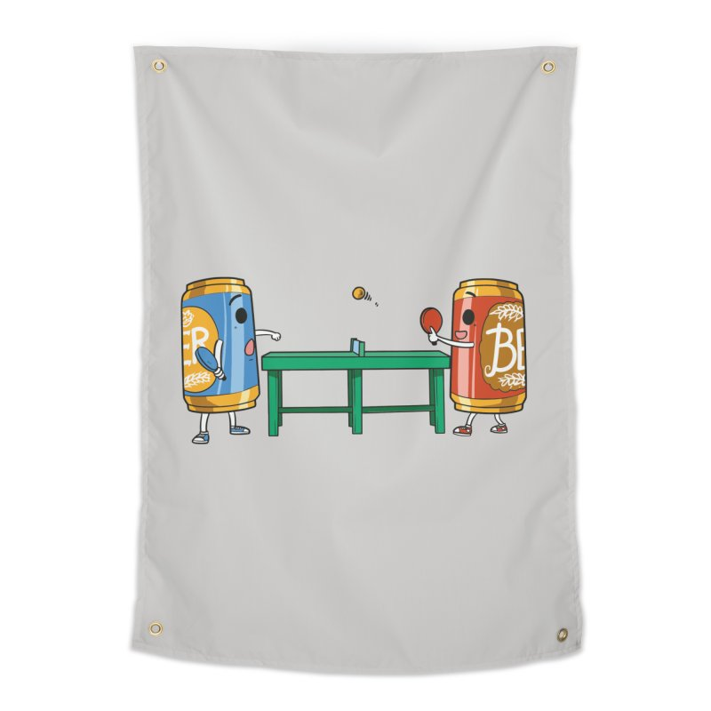 Beer Pong Home Decor Tapestry by Saucy Robot