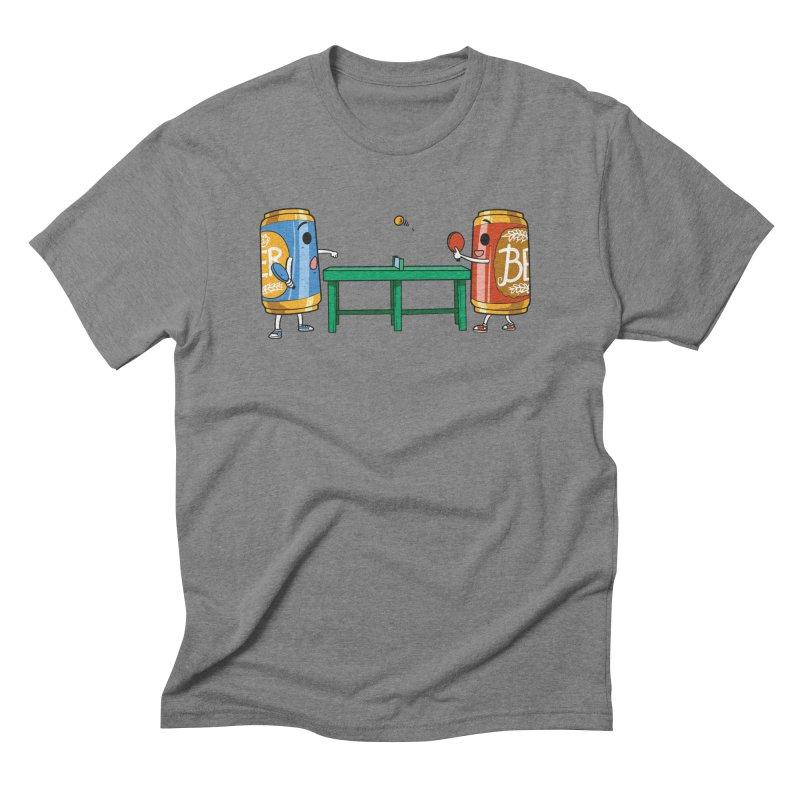 Beer Pong Men's T-Shirt by Saucy Robot