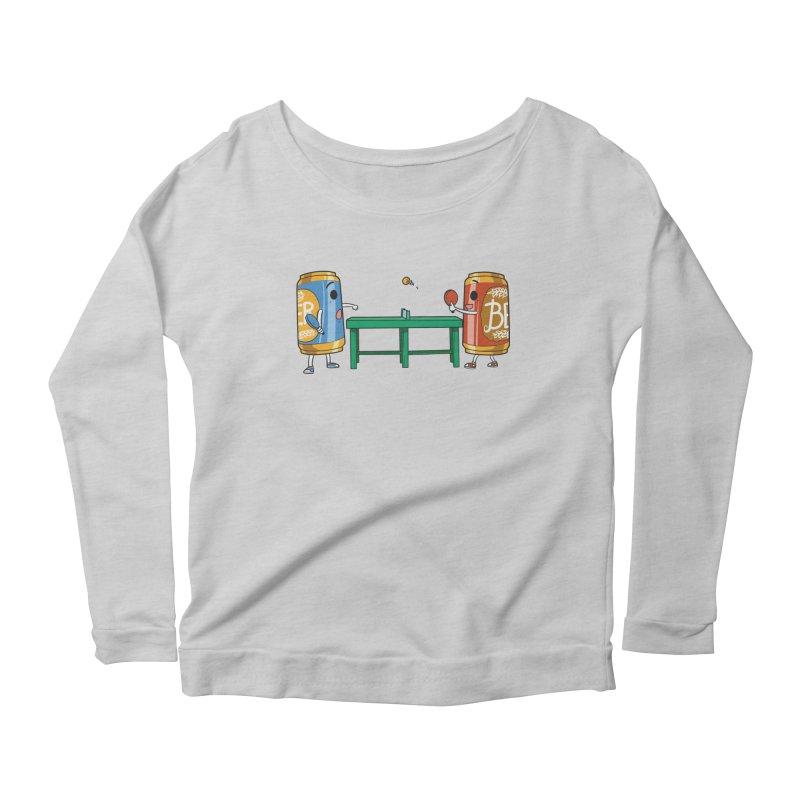 Beer Pong Women's Longsleeve T-Shirt by Saucy Robot