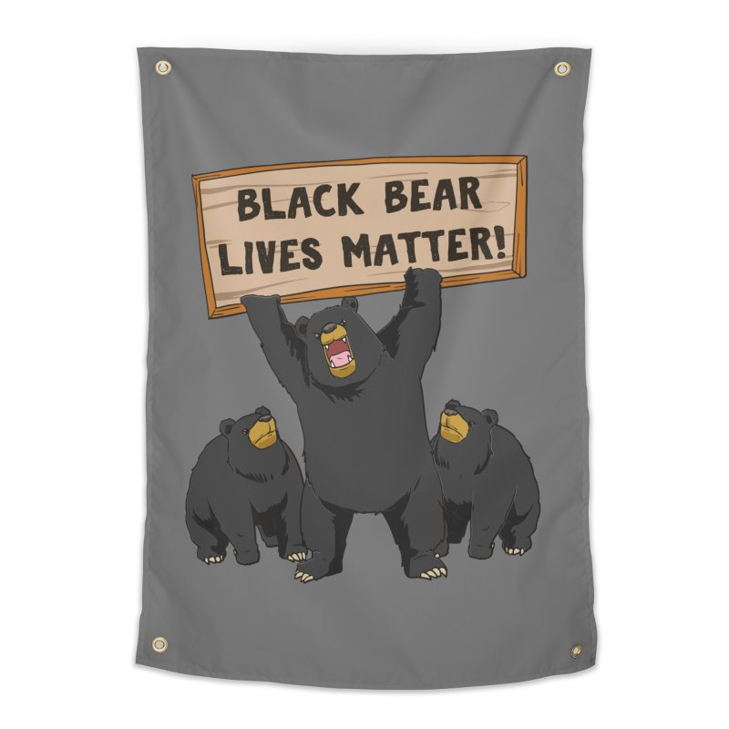 Black Bear Lives Matter Home Decor Tapestry by Saucy Robot