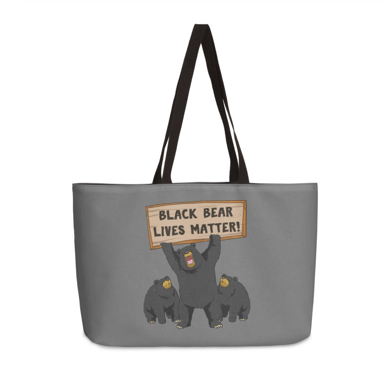 Black Bear Lives Matter Accessories Bag by Saucy Robot