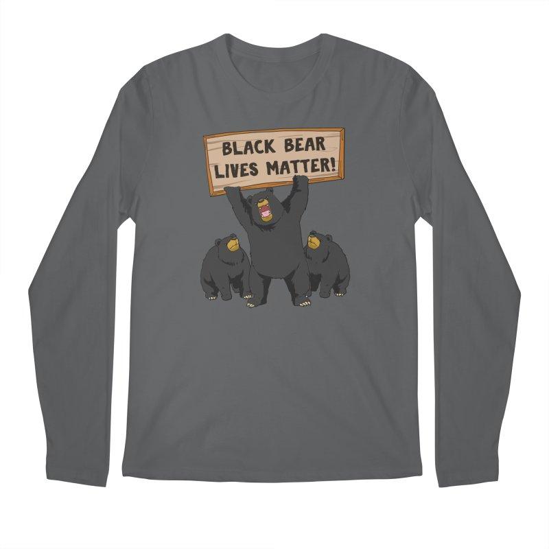 Black Bear Lives Matter Men's Longsleeve T-Shirt by Saucy Robot