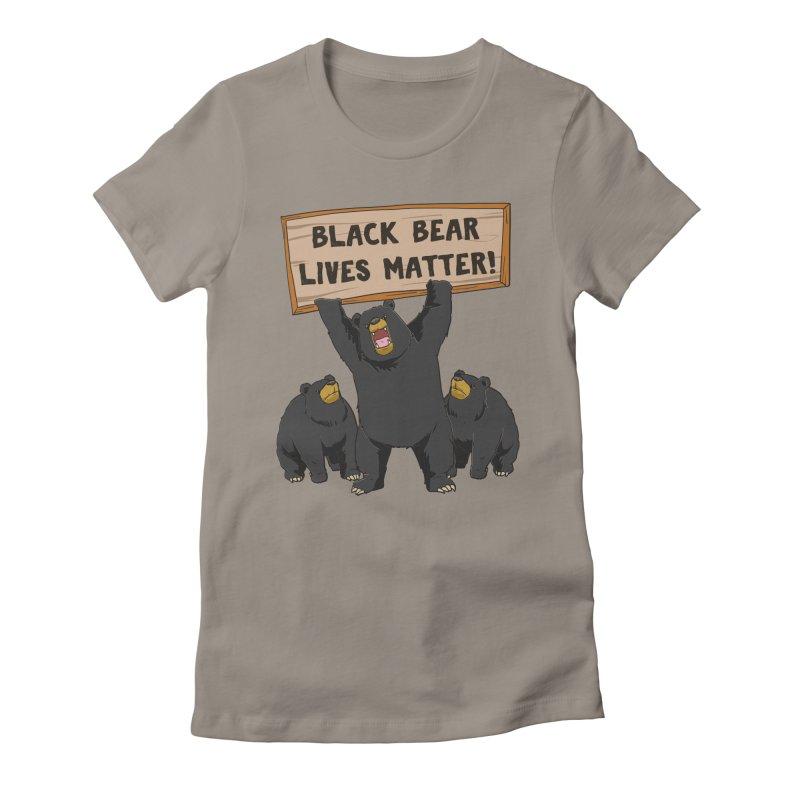 Black Bear Lives Matter Women's T-Shirt by Saucy Robot