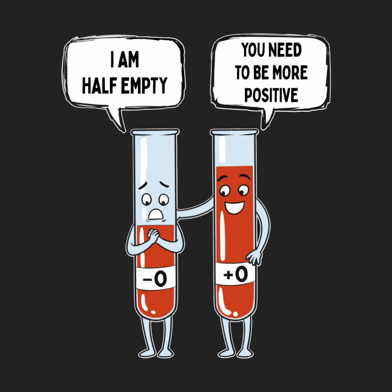 Half Empty Men's T-Shirt by Saucy Robot