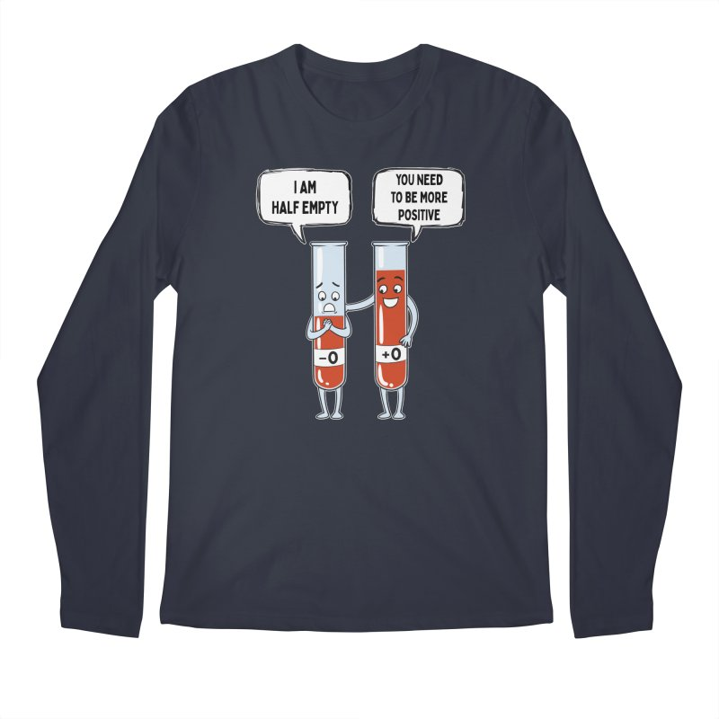 Half Empty Men's Longsleeve T-Shirt by Saucy Robot