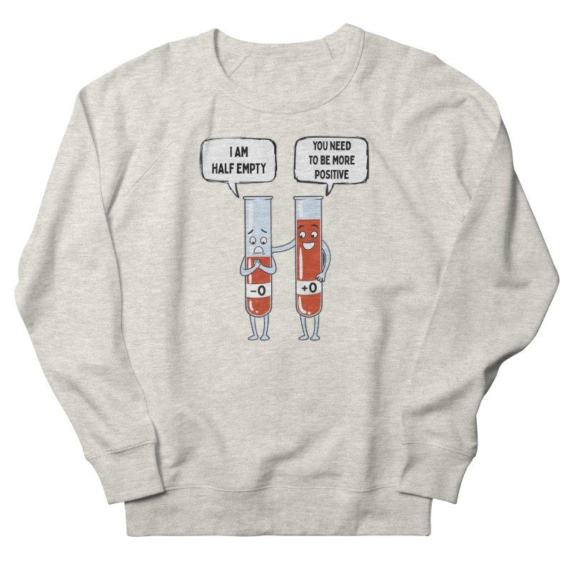Half Empty Men's Sweatshirt by Saucy Robot
