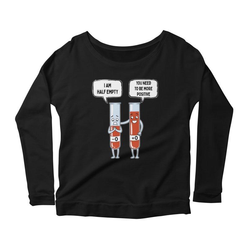 Half Empty Women's Longsleeve T-Shirt by Saucy Robot