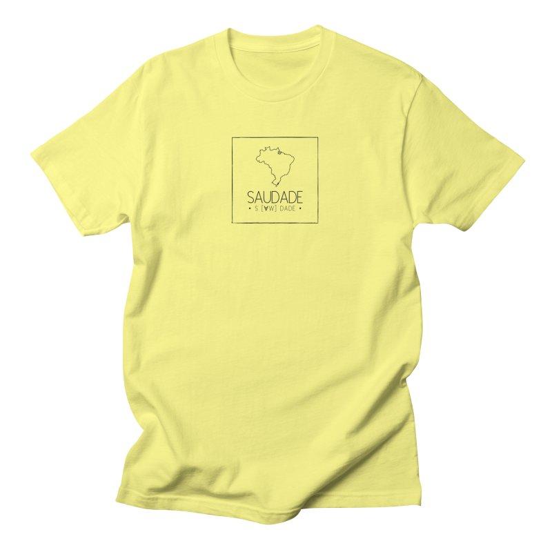Saudade Magazine - BLACK logo Men's T-Shirt by saudademagazine's Artist Shop