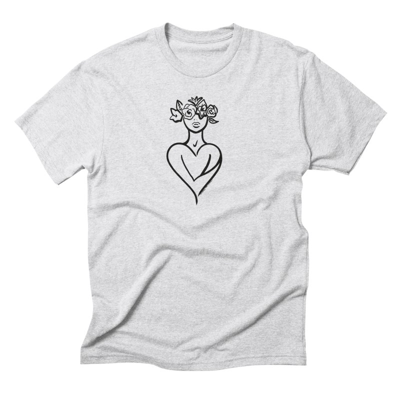 SELF LOVE (BW) Men's T-Shirt by saudademagazine's Artist Shop