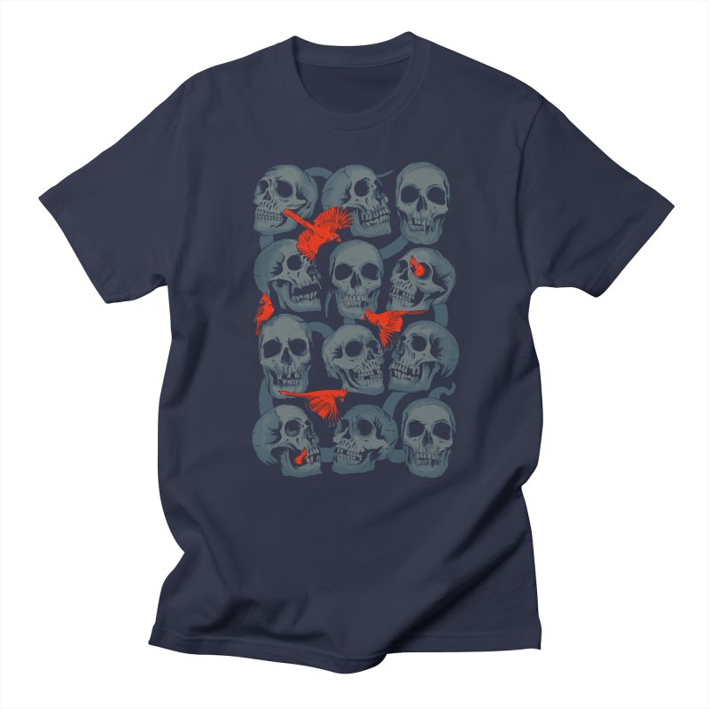 Skulls and Cardinals Men's T-shirt by Saulo Alonso's Artist Shop