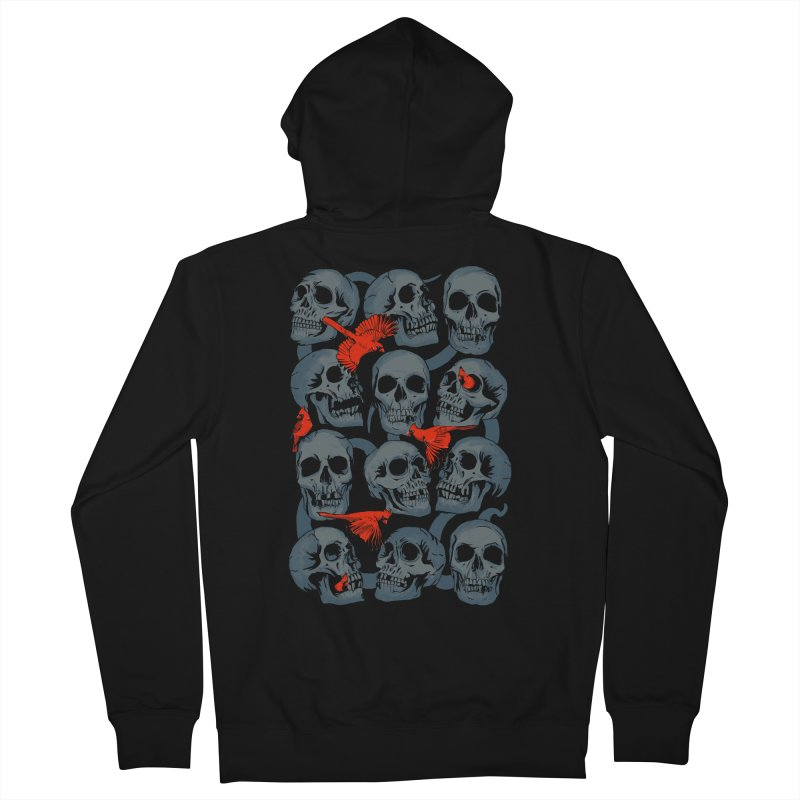 Skulls and Cardinals Women's Zip-Up Hoody by Saulo Alonso's Artist Shop
