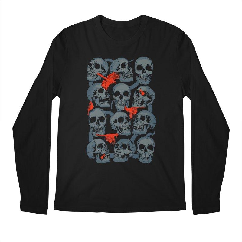 Skulls and Cardinals Men's Longsleeve T-Shirt by Saulo Alonso's Artist Shop