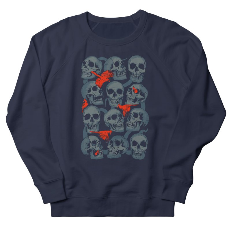 Skulls and Cardinals Women's Sweatshirt by Saulo Alonso's Artist Shop