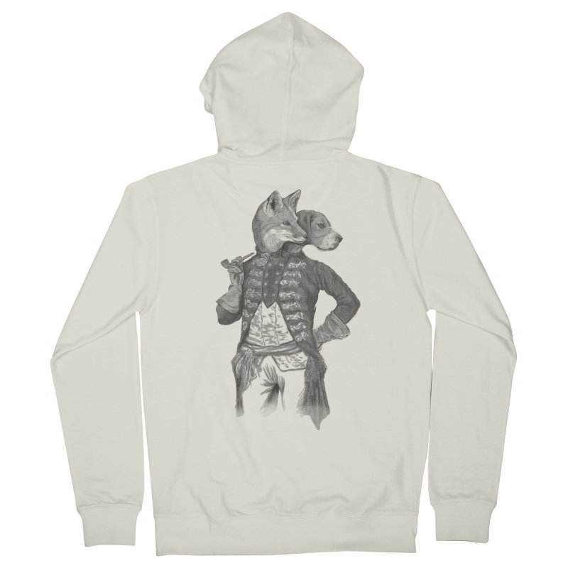 Living Together Men's Zip-Up Hoody by Saulo Alonso's Artist Shop